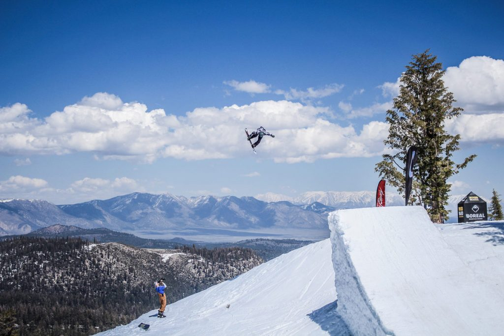 Tribe Snowboards out of Mammoth Mountain, California, makes snowboards for big air, powder, terrain park and backcountry riding. (Photo courtesy Tribe Snowboards.)